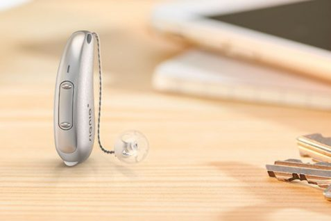 A Hearing Aid Displayed On The Table.